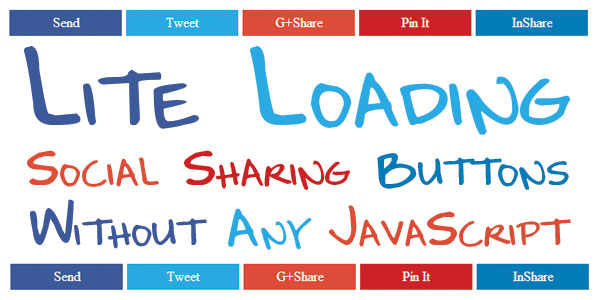 Lite Loading Social Sharing Buttons Without Any JavaScript