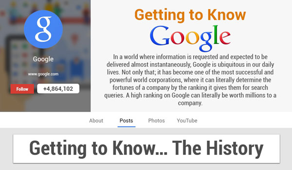 Getting To Know The Google History Via Infograph
