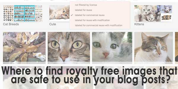 Where To Get Copyright Free Images For Your Blog Posts?