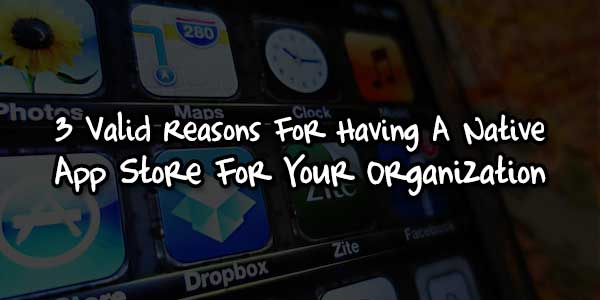 3 Valid Reasons For Having A Native App Store For Your Organization