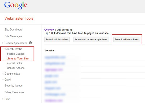 Google's WebMaster Tools Newest Inbound Links