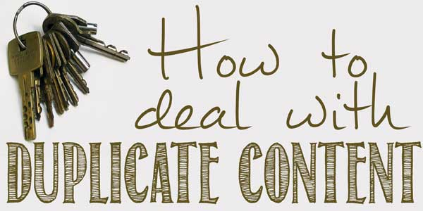 Alternatives For Bloggers To Fix Duplicate Content Issues In The Blog