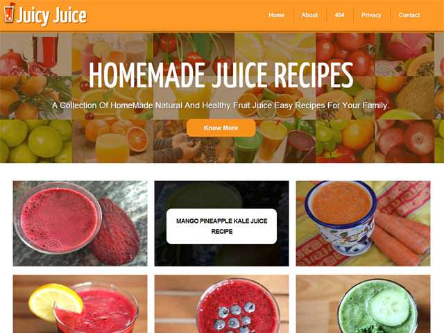 JuciyJuice: A Free Premium Responsive Blogger Template
