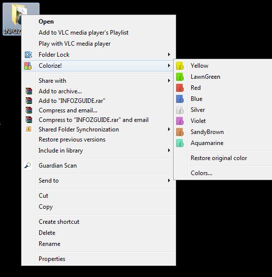 colorize menu