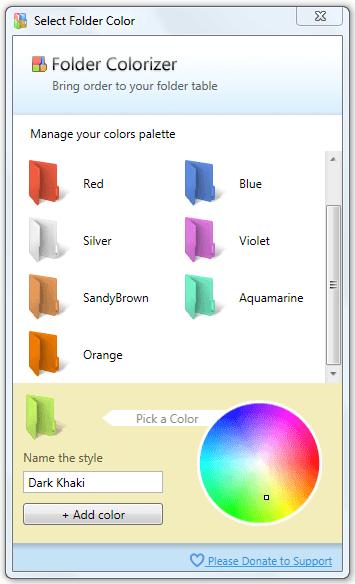 Colorize color editor