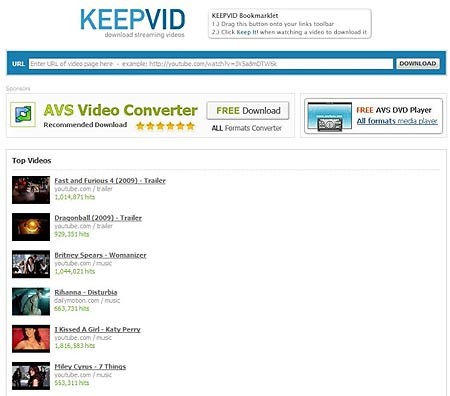 Keepvid YouTube Download