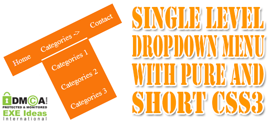 Simple Single Level Dropdown Menu With Pure Short CSS3