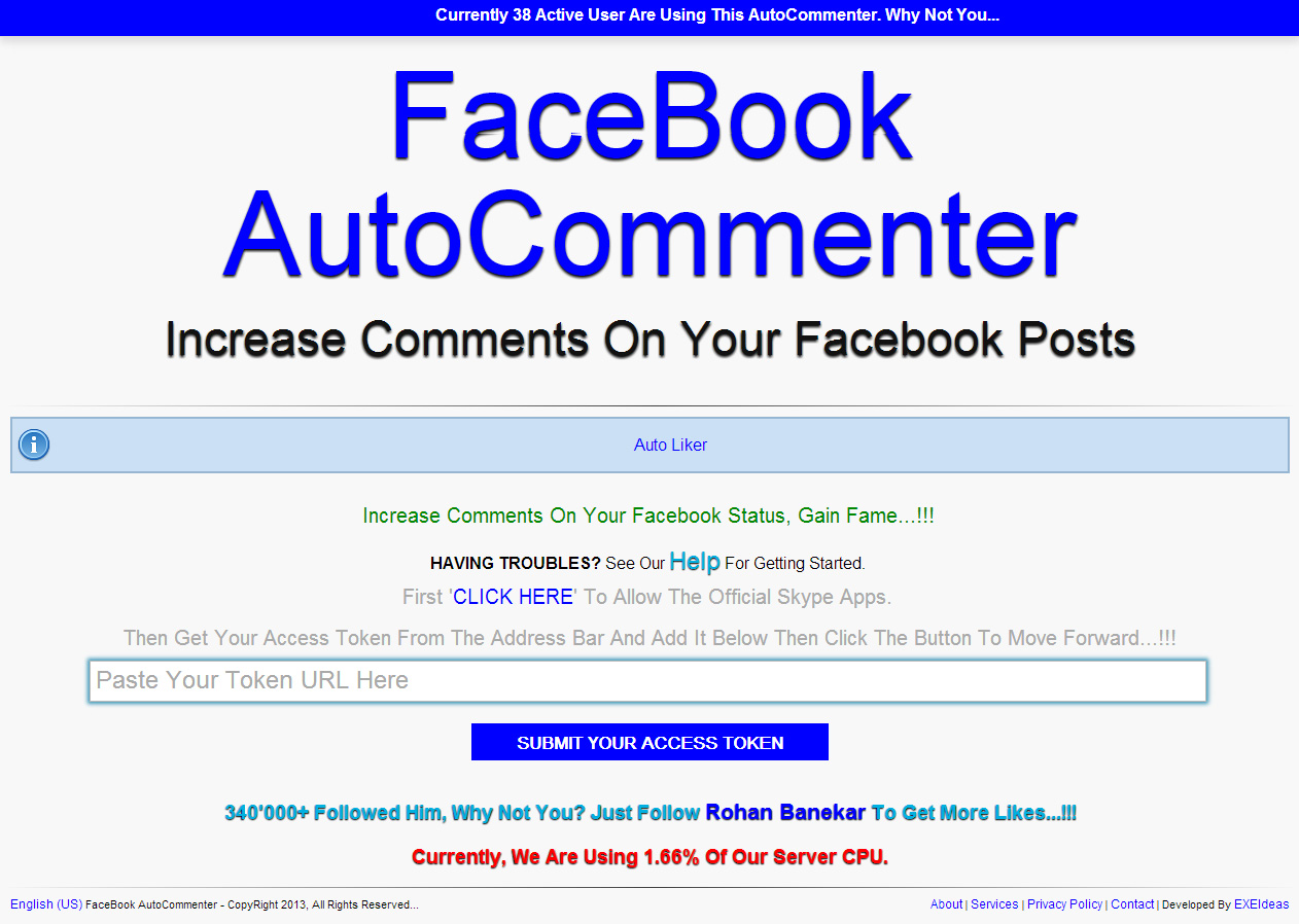 Increase Random Comments On Your FaceBook Profile By New FaceBook AutoCommenter