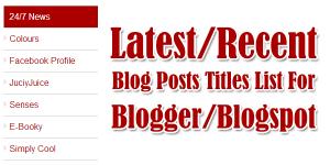 Latest-Recent-Blog-Posts-Title-List-For-Blogger-Blogspot