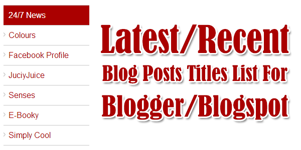 Latest-Recent-Blog-Posts-Title-List-For-Blogger-Blogspot