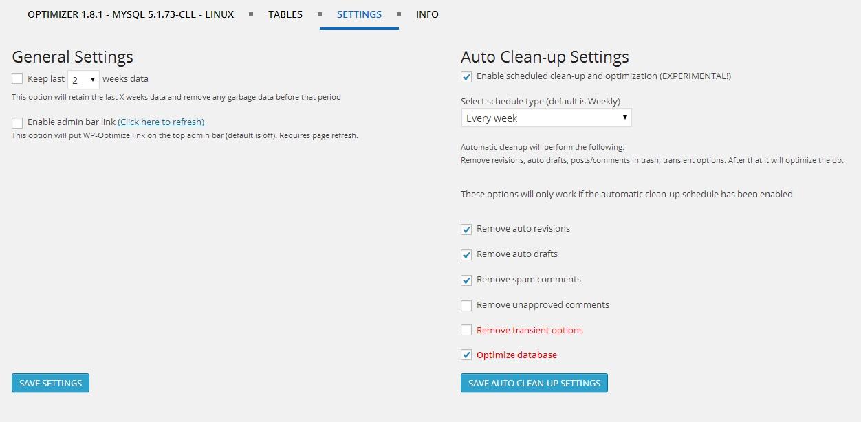 WP-Optimize Database Cleanup and Optimization Plugin - 3
