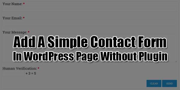 Add-A-Simple-Contact-Form-In-WordPress-Page-Without-Plugin