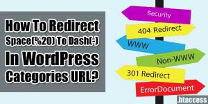 How-To-Redirect-Space-To-Dash-In-WordPress-Categories-URL