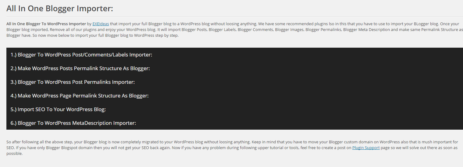 All-In-One-Blogger-Importer-Plugin-Setting-Page