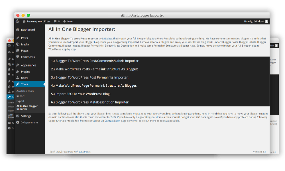 All-In-One-Blogger-Importer-Screen