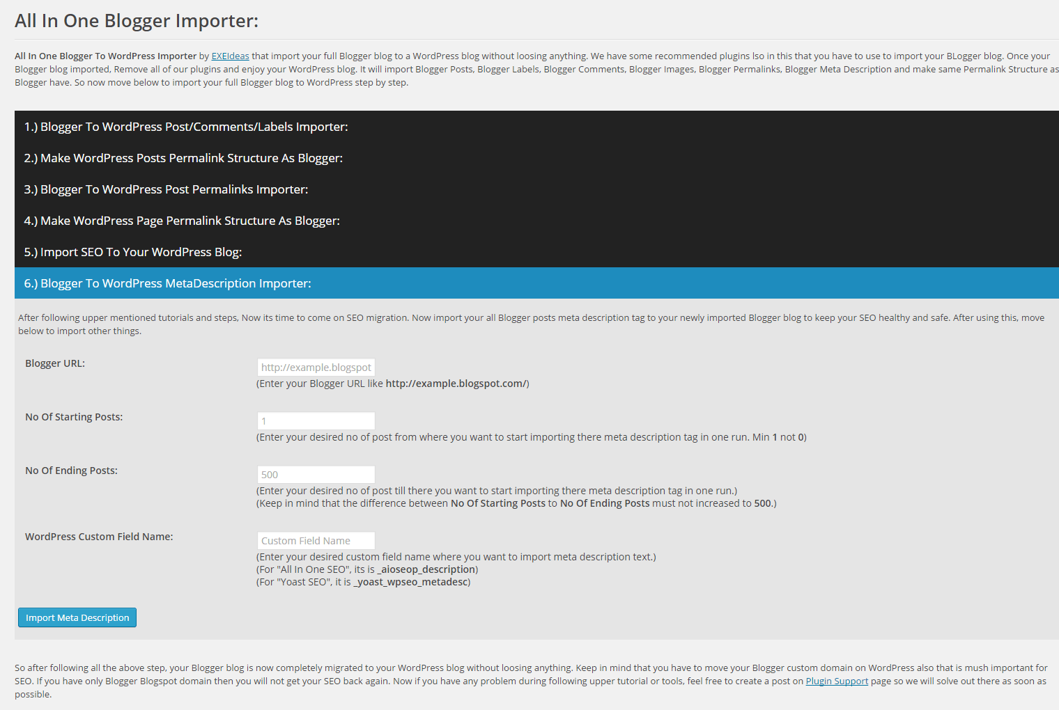 Blogger-To-WordPress-MetaDescription-Importer