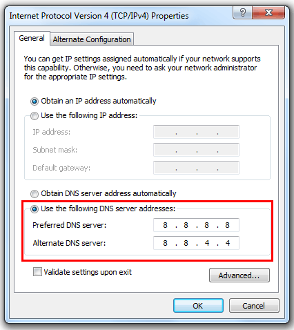 How To Setup OpenDNS Or GoogleDNS In Windows 7? - EXEIdeas – Let's ...