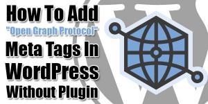 how to add meta tags in wordpress without plugin