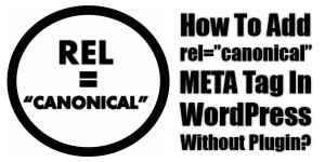 How-To-Add-rel=canonical-META-Tag-In-WordPress-Without-Plugin