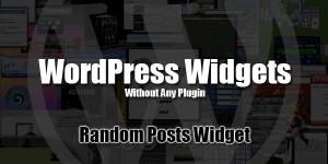 Add-Random-Posts-Widget-In-WordPress-Without-Any-Plugin