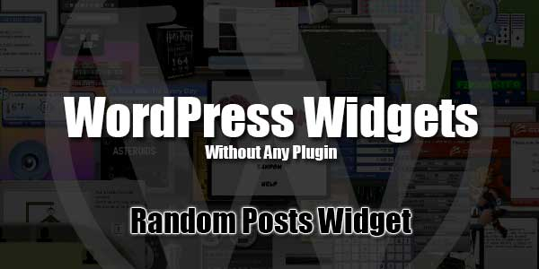 Add-Random-Posts-Widget-In-WordPress-Without-Any-Plugin