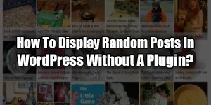 How-To-Display-Random-Posts-In-WordPress-Without-A-Plugin