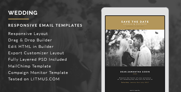 Email Wedding Invites: Top 10 Responsive Email Templates For Business Enhancement