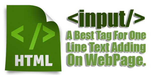 Input-A-Best-Tag-For-One-Line-Text-Adding-On-WebPage