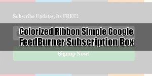 Colorized-Ribbon-Simple-Google-FeedBurner-Subscription-Box