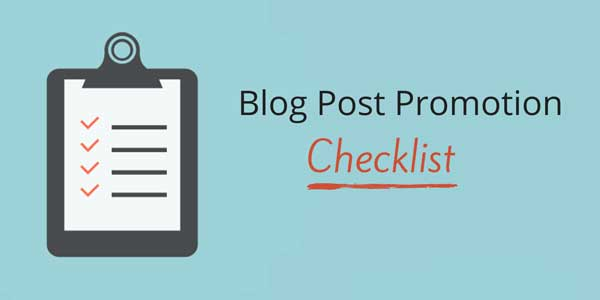 Blog-Promotion-Checklist