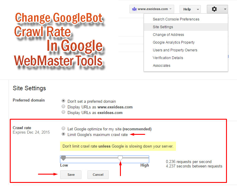 Change-GoogleBot-Crawl-Rate-In-Google-WebMaster