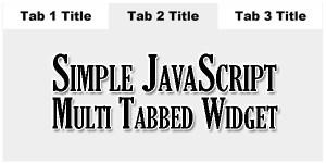 Simple-JavaScript-Multi-Tabbed-Widget