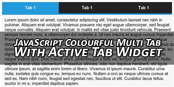 JavaScript-Colourful-Multi-Tab-With-Active-Tab-Widget