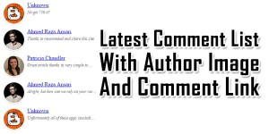 Latest-Comment-List-With-Author-Image-And-Comment-Link