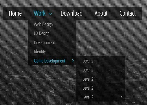 Drop-Down Menu Navigation 1