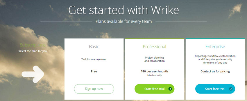 Wrike-Planes-Pricing