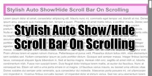 Stylish-Auto-Show-Hide-Scroll-Bar-On-Scrolling