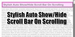 Stylish-Auto-Show-Hide-Scroll-Bar-On-Scrolling
