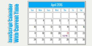 JavaScript-Calender-With-Time