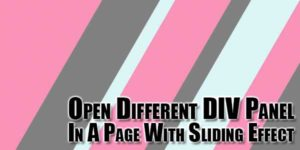 Open-Different-DIV-Panel-In-A-Page-With-Sliding-Effect