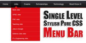 Single-Level-Stylish-Pure-CSS-Menu-Bar