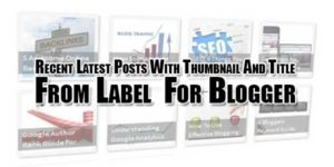 Recent-Latest-Posts-With-Thumbnail-And-Title-From-Label--For-Blogger