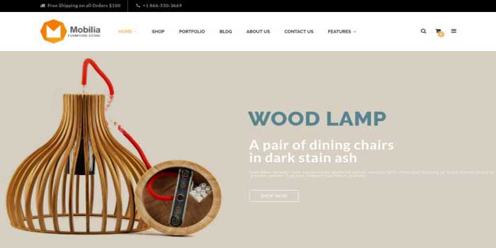 Top 5 woocommerce themes for your new furniture store for Mobilia wordpress theme