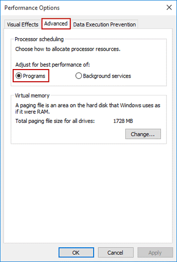 Set CPU Priority To Prefer Foreground Apps In Windows 10- 5