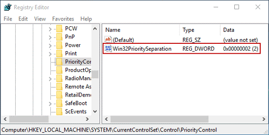 Set CPU Priority To Prefer Foreground Apps In Windows 10 - 6