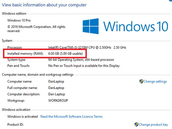 About-Computer-Windows-10