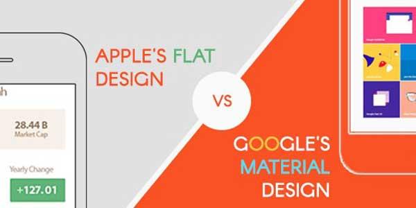 Apple's-Flat-Design-Or-Google's-Material-Design
