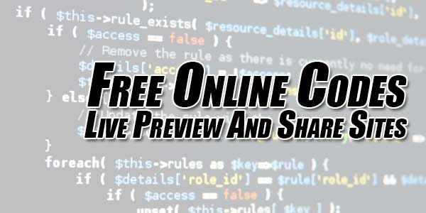 Free-Online-Codes-Live-Preview-And-Share-Sites