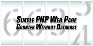 Simple-PHP-Web-Page-Counter-Without-Database