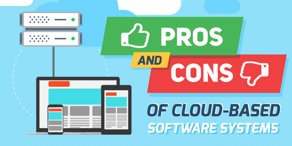 Pros-And-Cons-Of-Cloud-Based-Software-Systems-Infographics